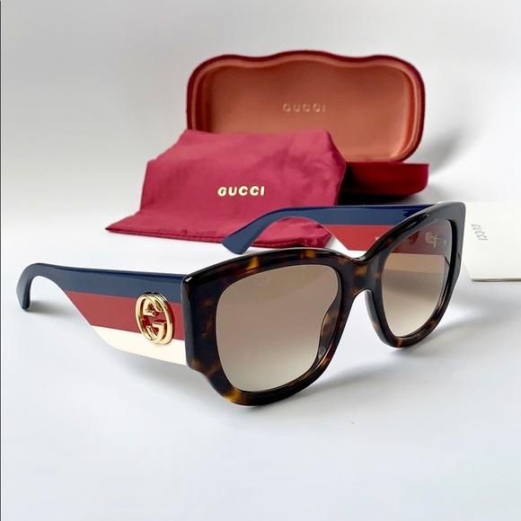 48fcf665014 Gucci Sunglasses Cat Eye GG0276S-002 Havana Brown